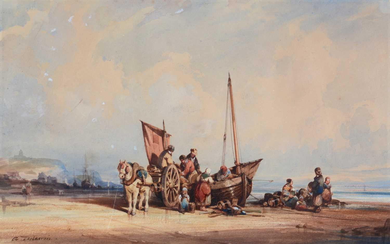 Auguste Delacroix - watercolour - Image 3 of 4