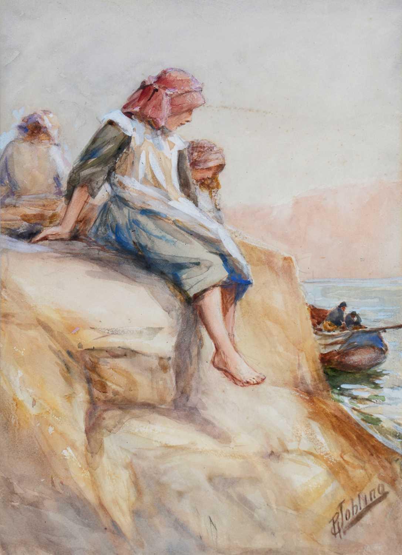Robert Jobling - watercolour. - Image 2 of 5