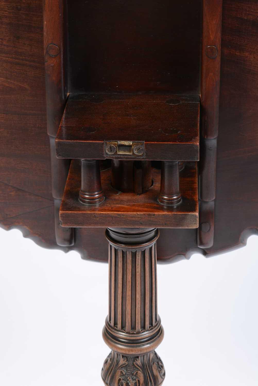 19th Century mahogany tripod table - Image 6 of 11
