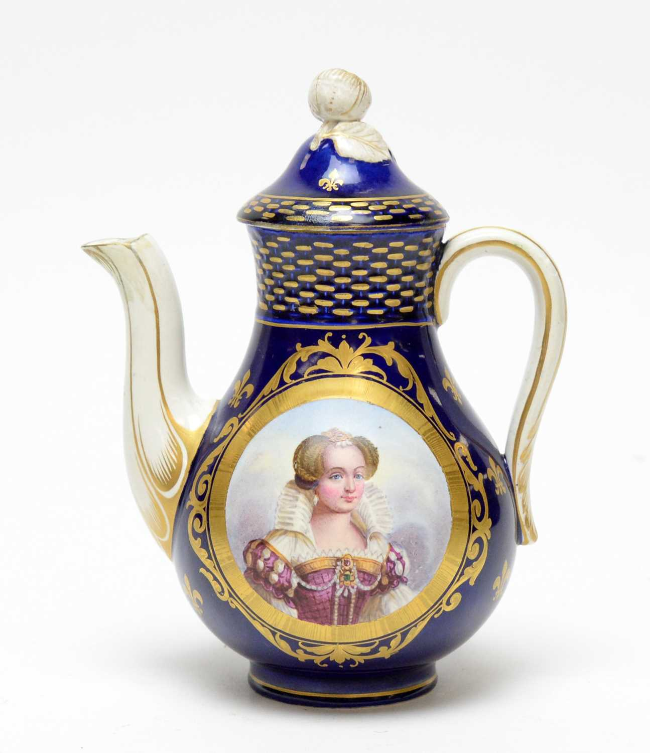 Sevres style coffee pot