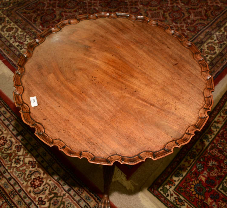 19th Century mahogany tripod table - Image 11 of 11