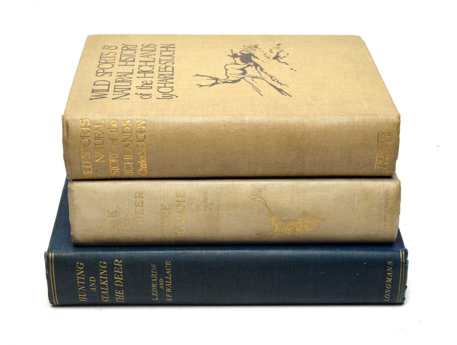 Edwards (Lionel) and Wallace (Harold Frank) Hunting & Stalking of Deer, and 2 other books
