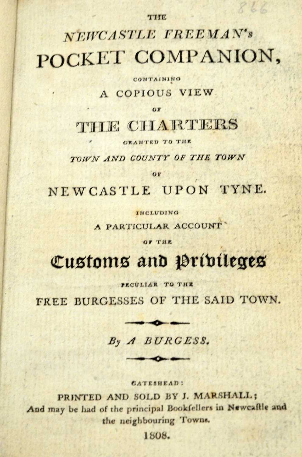 Baillie (J.), An Impartial History of Newcastle... and Newcastle interest books - Image 2 of 5