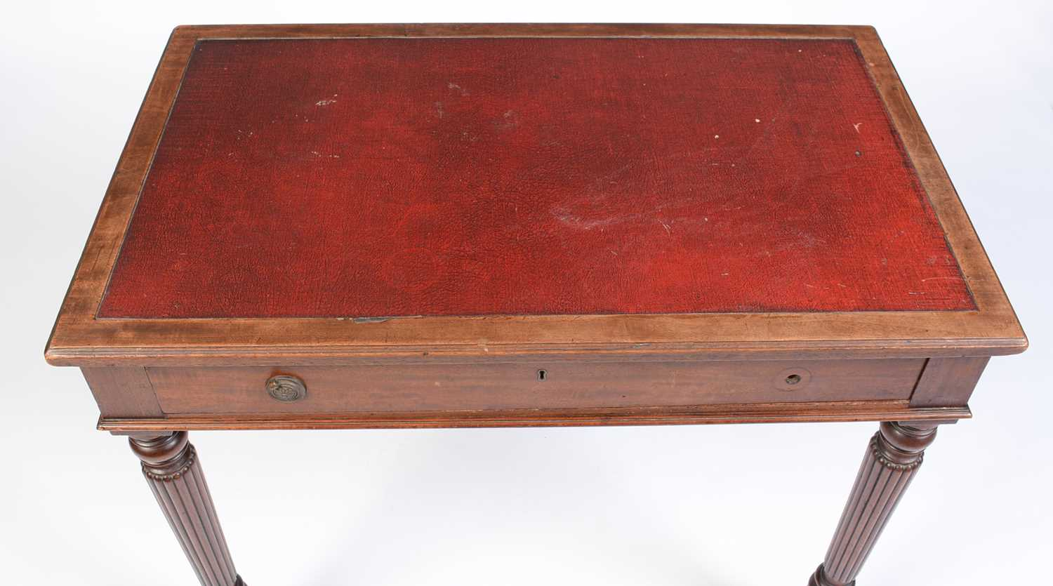 William IV mahogany writing desk stamped Gillow - Image 2 of 11