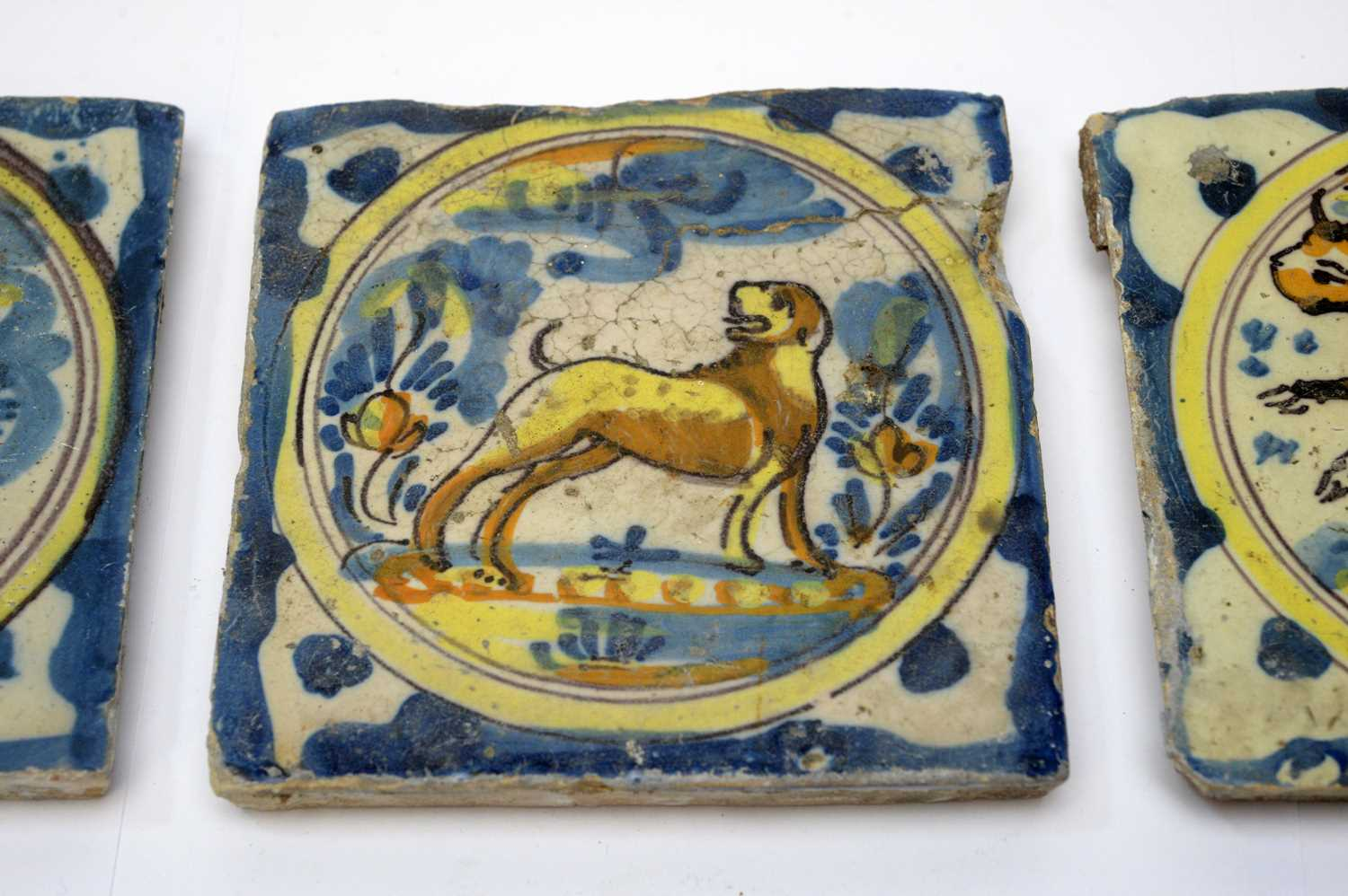 Three early Spanish tiles - Image 4 of 4