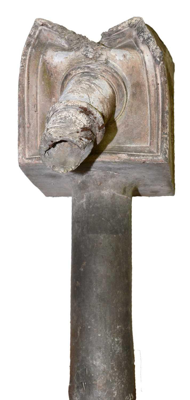 19th Century lead drain junction