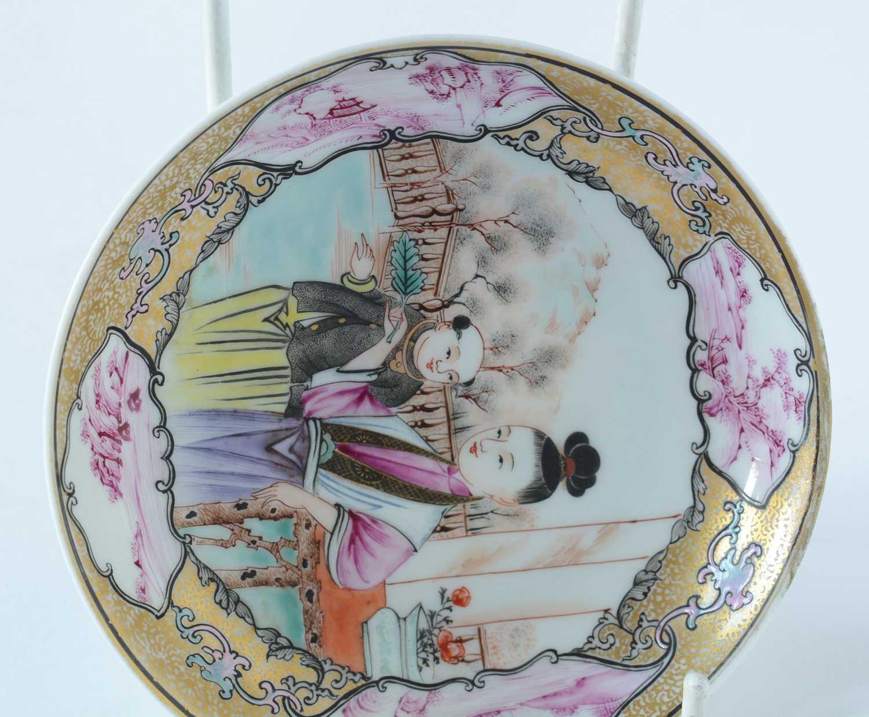Yongzheng Famille rose saucer. - Image 5 of 15