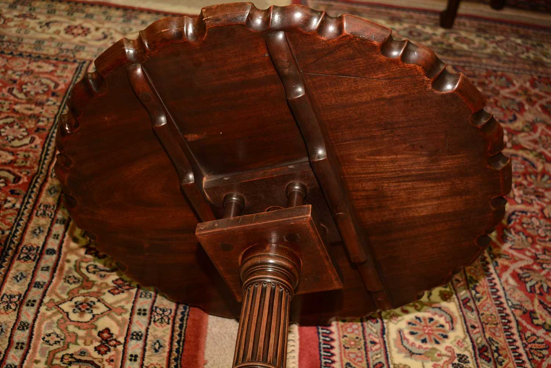 19th Century mahogany tripod table - Image 8 of 11