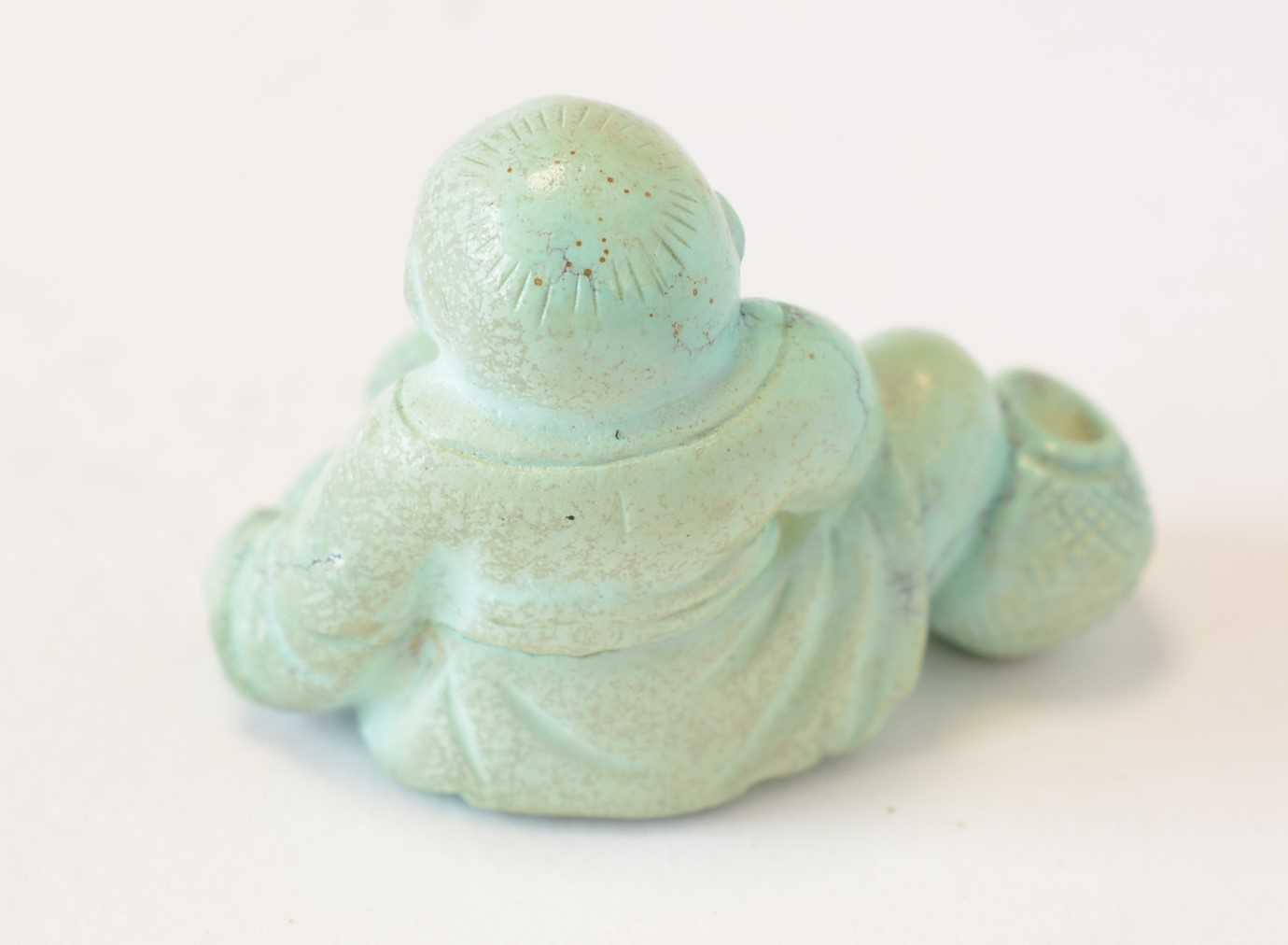 Chinese turquoise figure; jadeite pendant, hardstone cup - Image 8 of 27