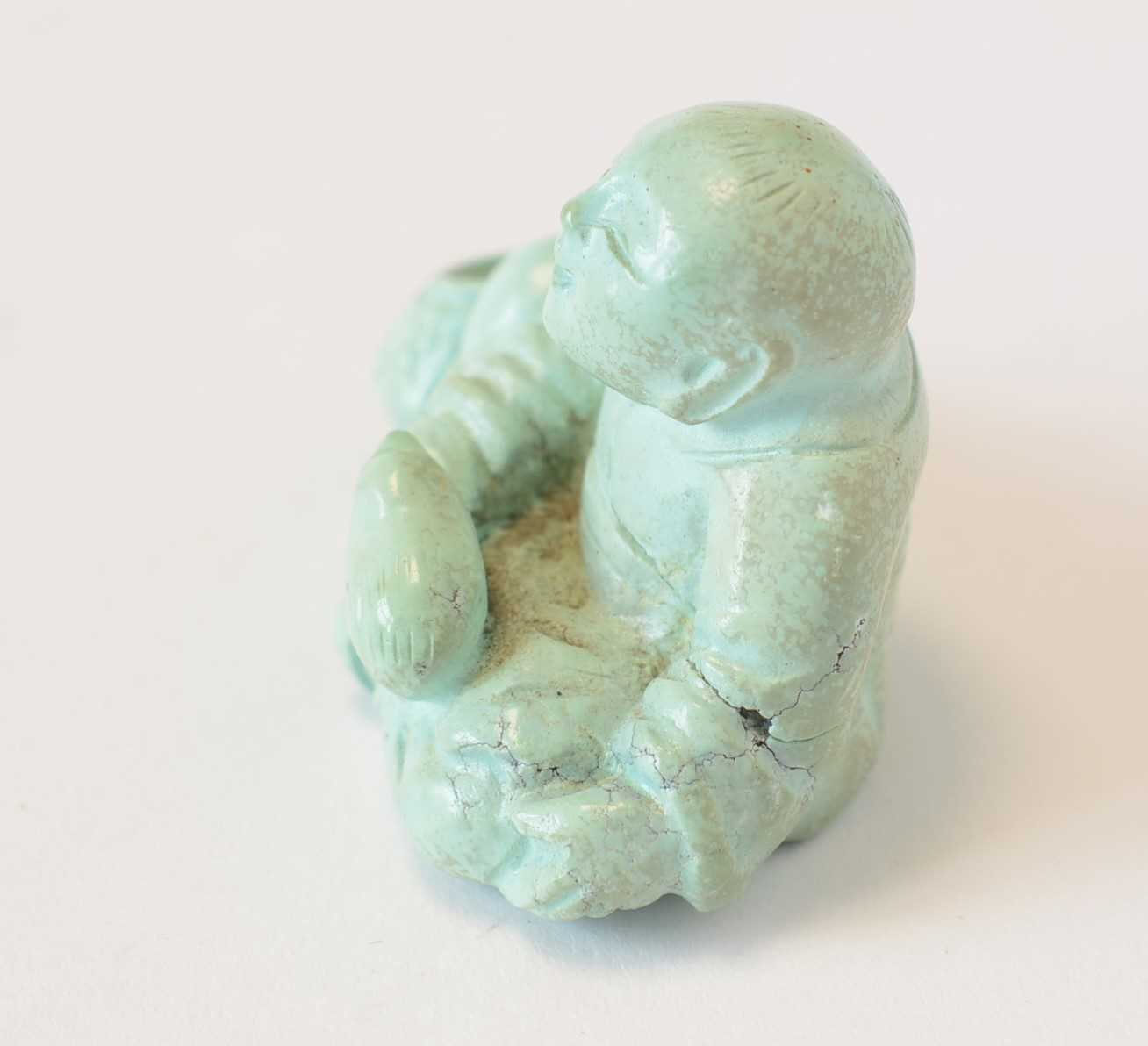Chinese turquoise figure; jadeite pendant, hardstone cup - Image 12 of 27