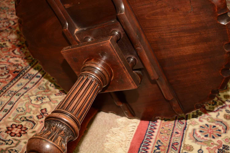 19th Century mahogany tripod table - Image 10 of 11