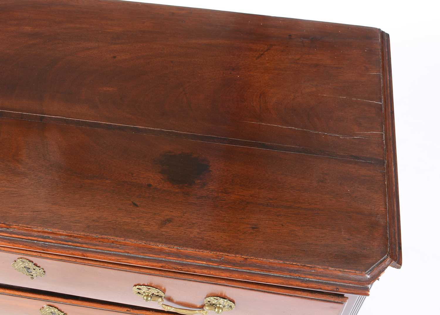 Late George III mahogany chest of drawers - Image 2 of 5