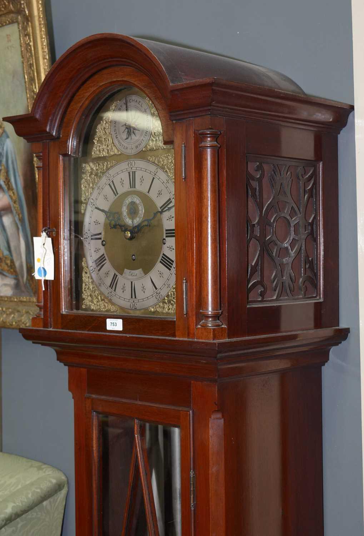 Reid - 20th Century musical longcase clock - Image 8 of 11