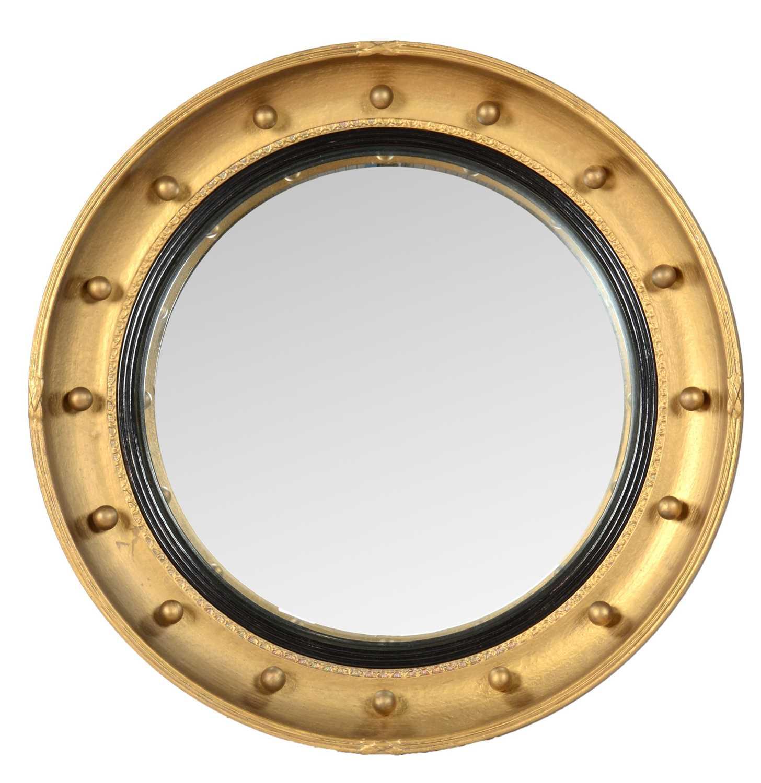 Early 20th Century convex wall mirror