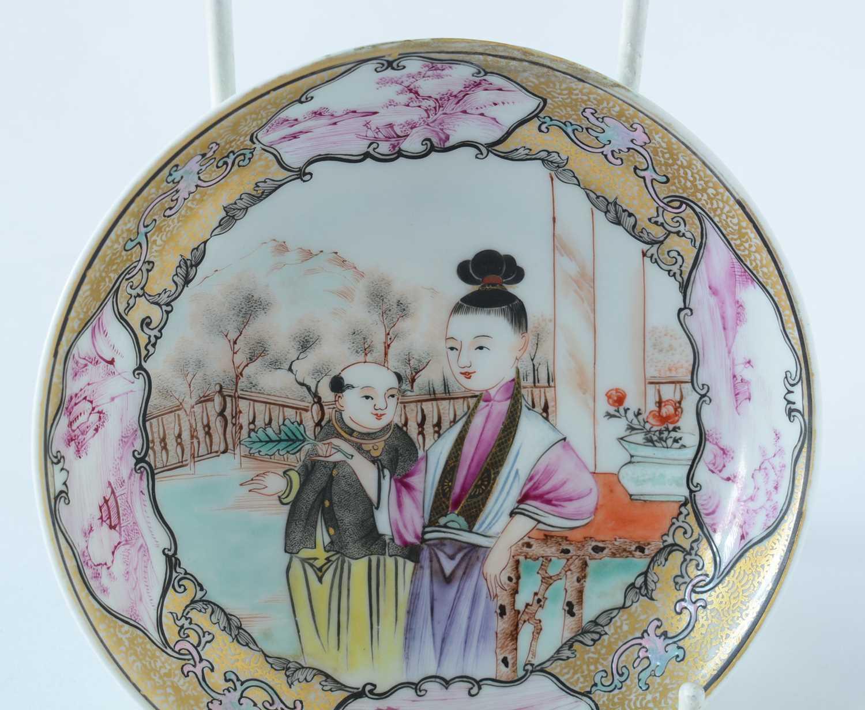 Yongzheng Famille rose saucer. - Image 14 of 15