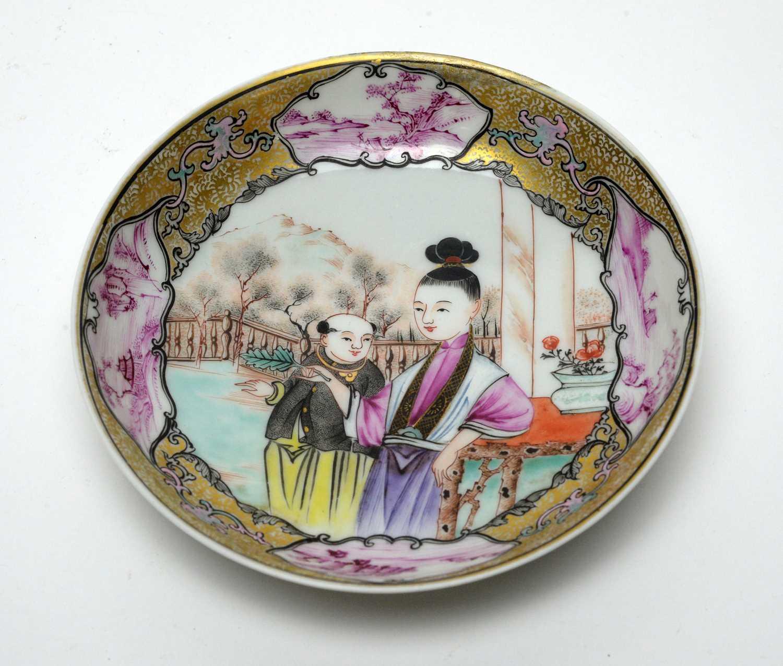 Yongzheng Famille rose saucer.