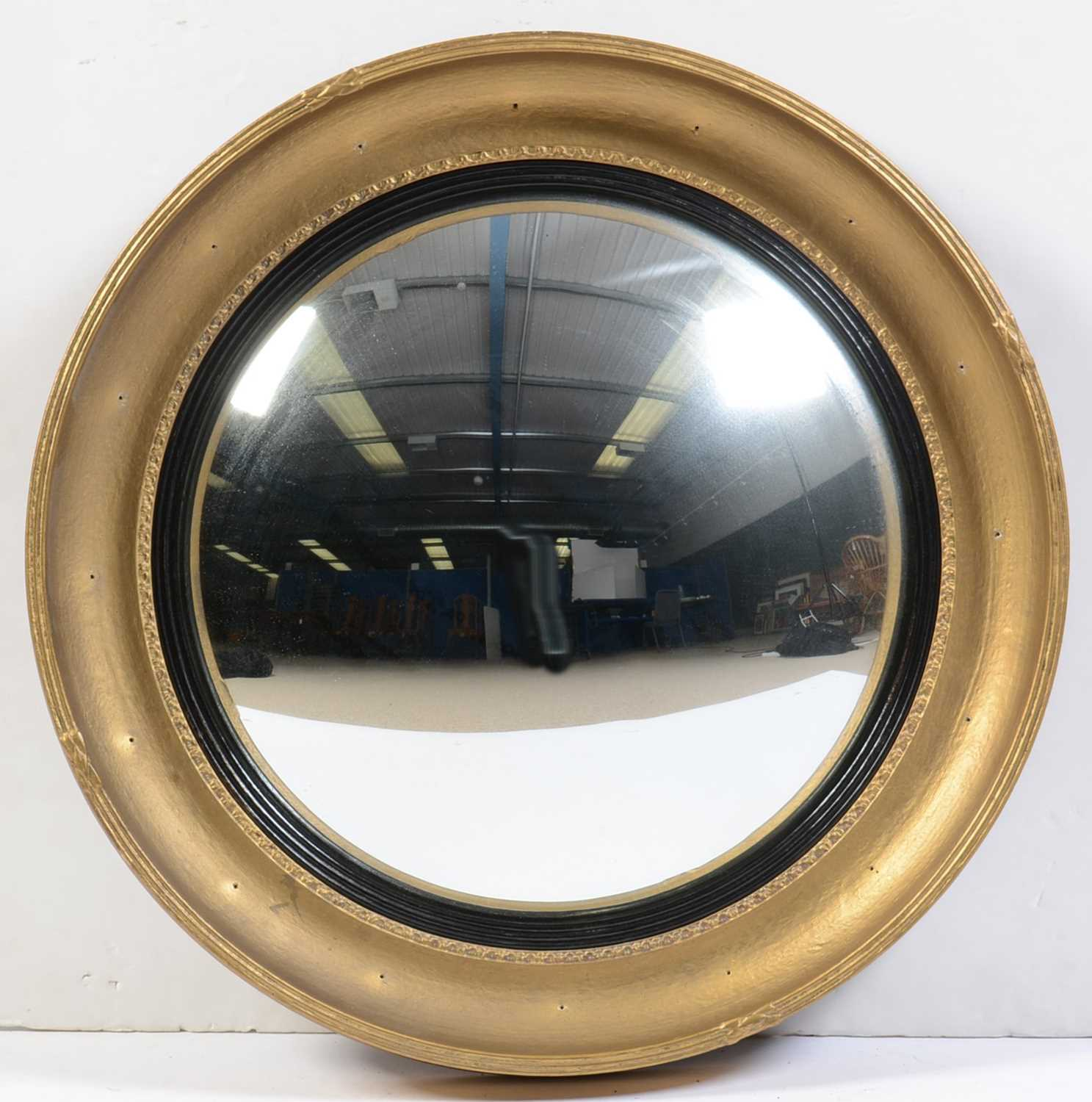 Early 20th Century convex wall mirror - Image 4 of 4