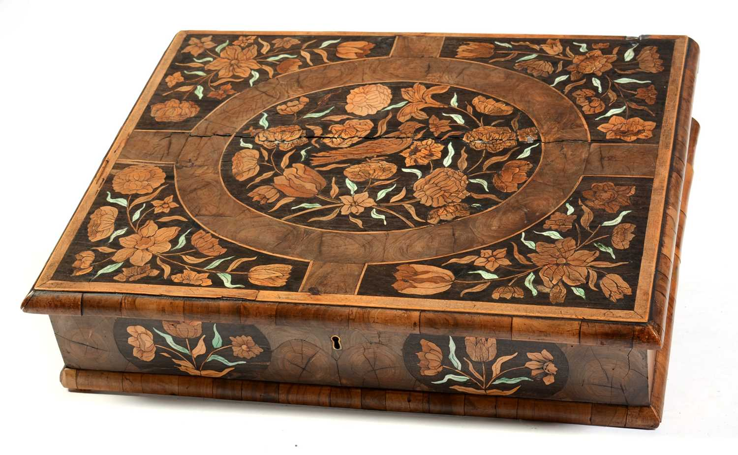 18th Century Dutch marquetry and oyster veneered lace box