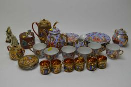 Japanese tea and coffee ware along with other Asian items