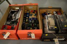 Selection of model vehicles by Corgi, Maisto, Bburago and others