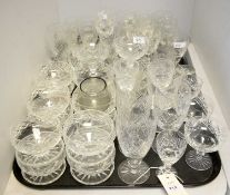 Selection of cut glass ware