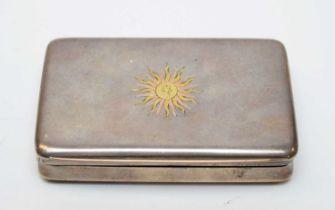 An Italian white metal snuff box by Ugo Frilli of Florence.