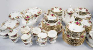 A Royal Albert 'Old Country Roses' tea, coffee and dinner service