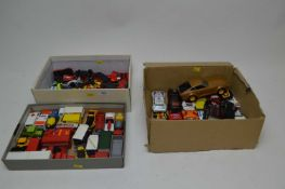 Selection of die-cast model vehicles including Matchbox, Corgi and others