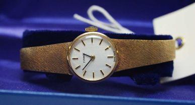 Lady's 9ct gold Tissot wrist watch