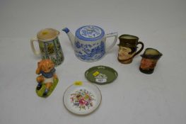 A selection of ceramics including Royal Doulton, Royal Worcester and others