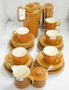 A Hornsea 'Saffron' pattern part coffee service