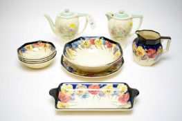 Selection of Royal Doulton 'Pansy' pattern dinner ware and Susie Cooper ceramics
