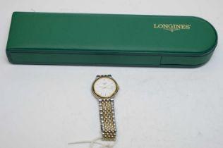 A lady's Longines Les Grandes Classique stainless steel wristwatch.