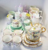 Selection of coffee ware including Queen Anne, Aynsley and others