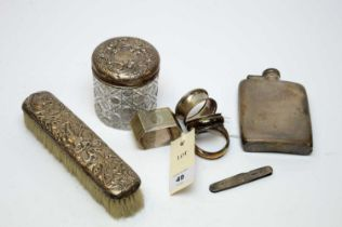 Antique small silver items.