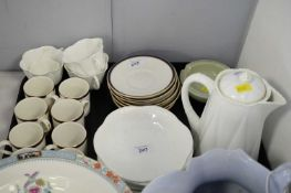 Shelley part coffee service and a selection of other ceramics