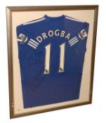 Signed Drogba football shirt.