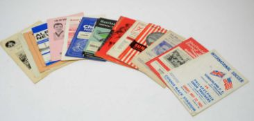 FA Cup football programs from the 1950s and 60s