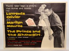 """British quad film poster for """"The Prince and the Showgirl"""""""
