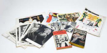 Selection of photographs, books, and ephemera relating to Marilyn Monroe
