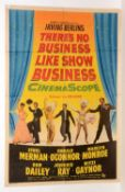 """British movie poster for """"There's No Business Like Show Business"""""""