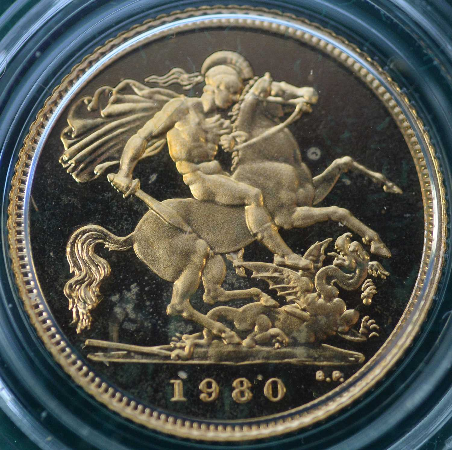 1980 four coin gold proof sovereign set - Image 2 of 8
