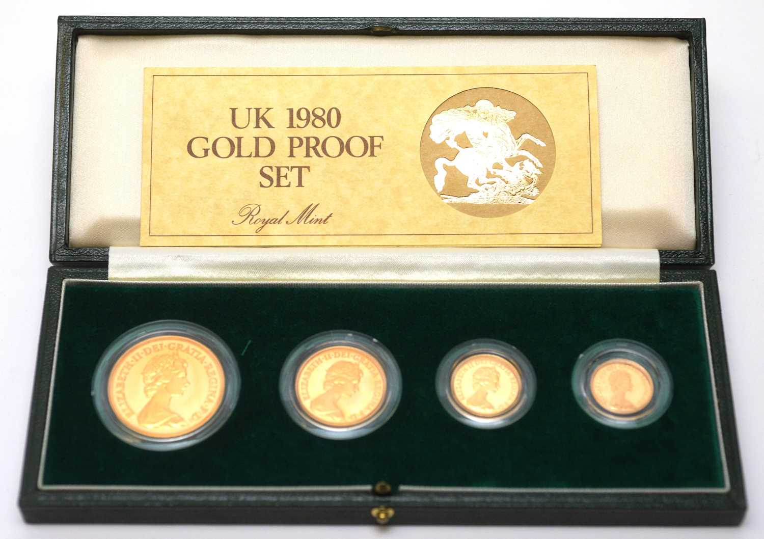 1980 four coin gold proof sovereign set