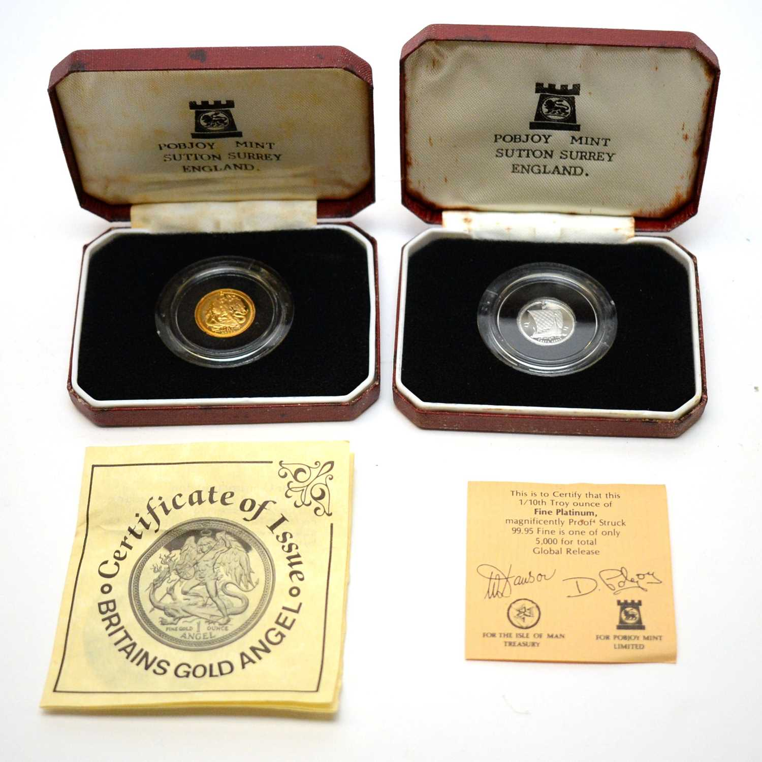 Pobjoy gold and platinum coins