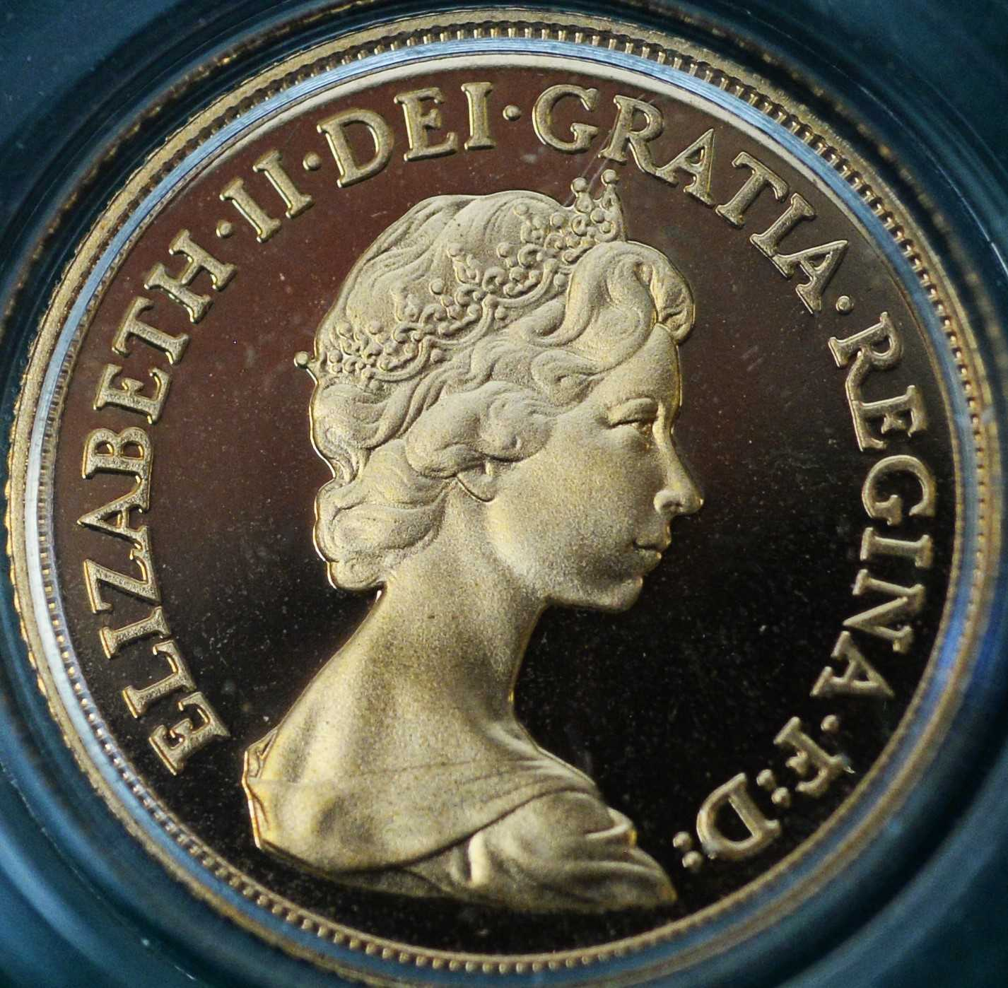 1980 four coin gold proof sovereign set - Image 4 of 8