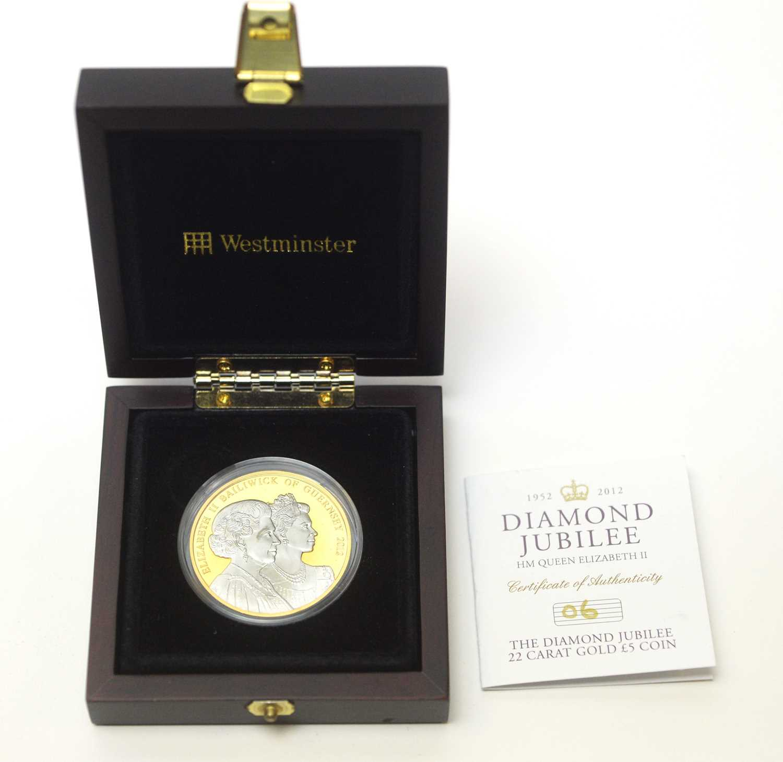 A Diamond Jubilee Guernsey £5 gold coin