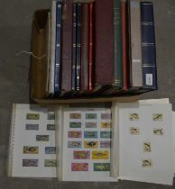 Large quantity of world stock stamps in various stock books.