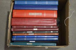 Stamp stock books,