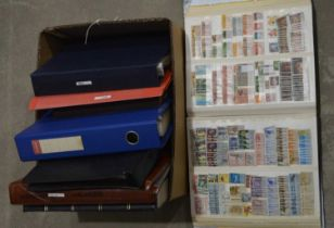 A box containing mixed world stamp collection,