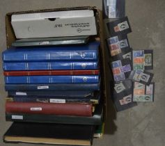 World stamps, mostly in stock books,